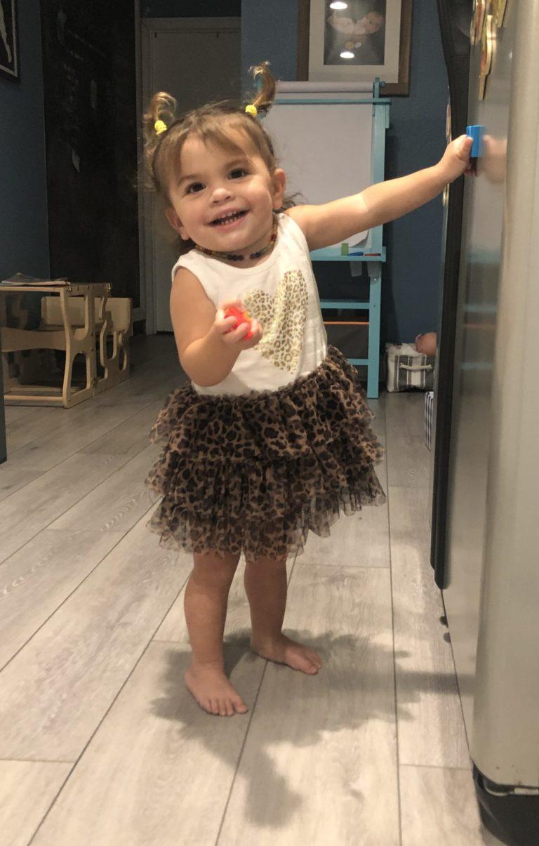 Dakota smiling in a tutu