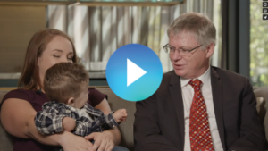 Video thumbnail of mom and baby with RCIGM CEO Stephen Kingsmore