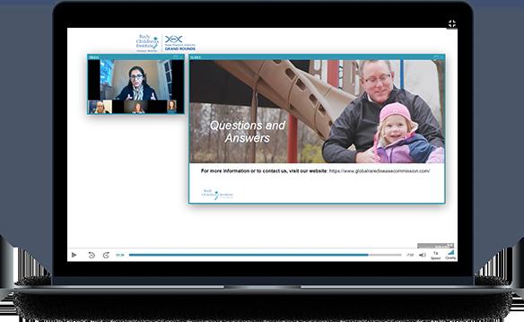 laptop showing video